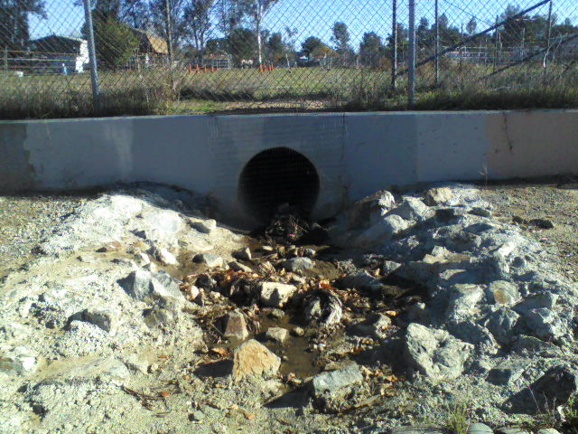 The rabbit hole, discharge point from Bryant St. Drain Stage 1