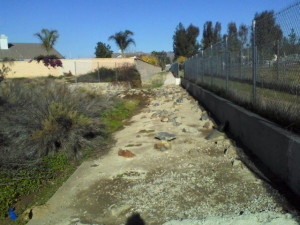 Unnamed Storm Drain that directs flow from Palomar Street east of the park