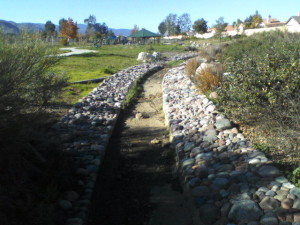 Current 10 foot wide Channel that runs complete length of the  park