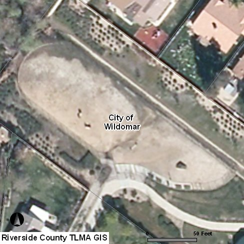 Aerial photo taken 2011. Notice the channel across the dog park