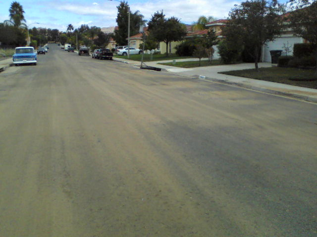 This street is normally quite clean. Today it is filthy