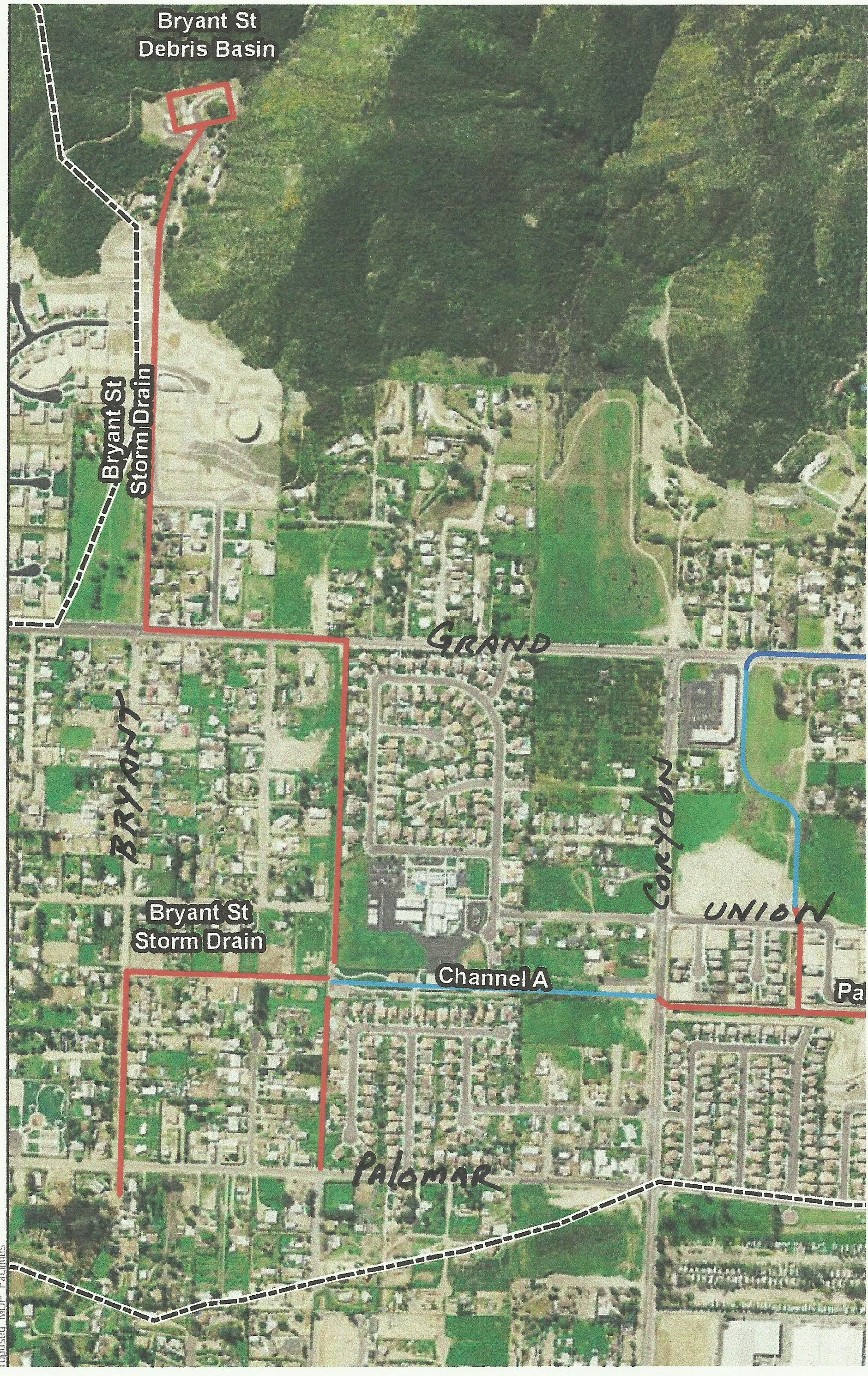 Lakeland Village Master Drainage Plan adopted in 2014