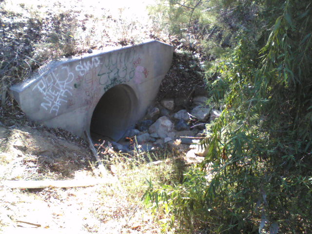 This is a 5 foot drain opening north of Cervera Rd. The far right side of previous drawing.