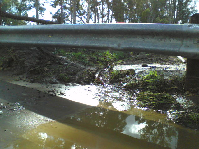 Drainage maintained by neighbor.