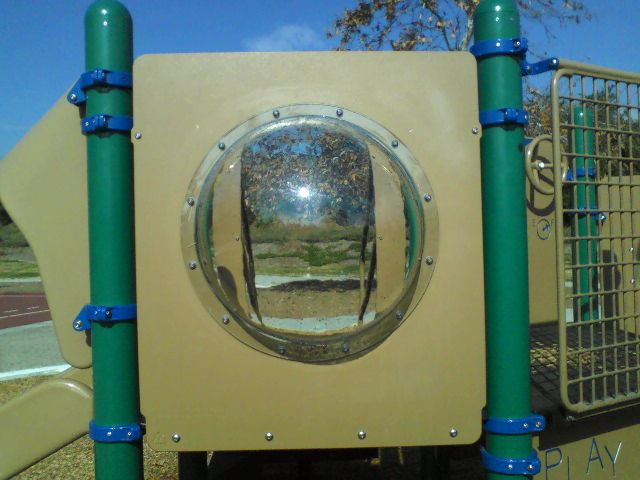 New Bubble Panel at Windsong Park from the outside.