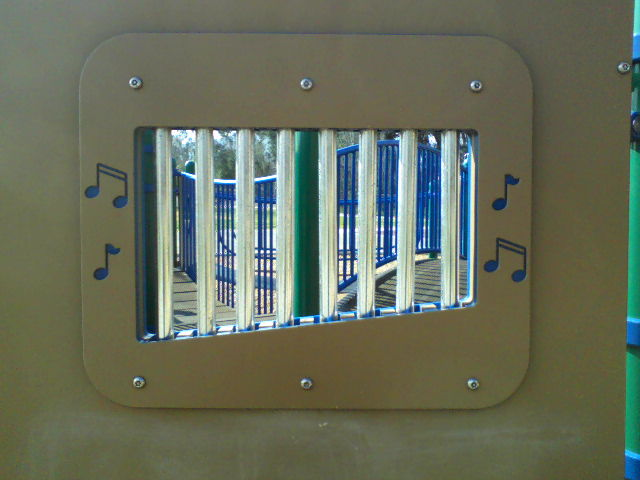 Chimes located at Windsong and Marna O'Brien Parks Tot-Lots