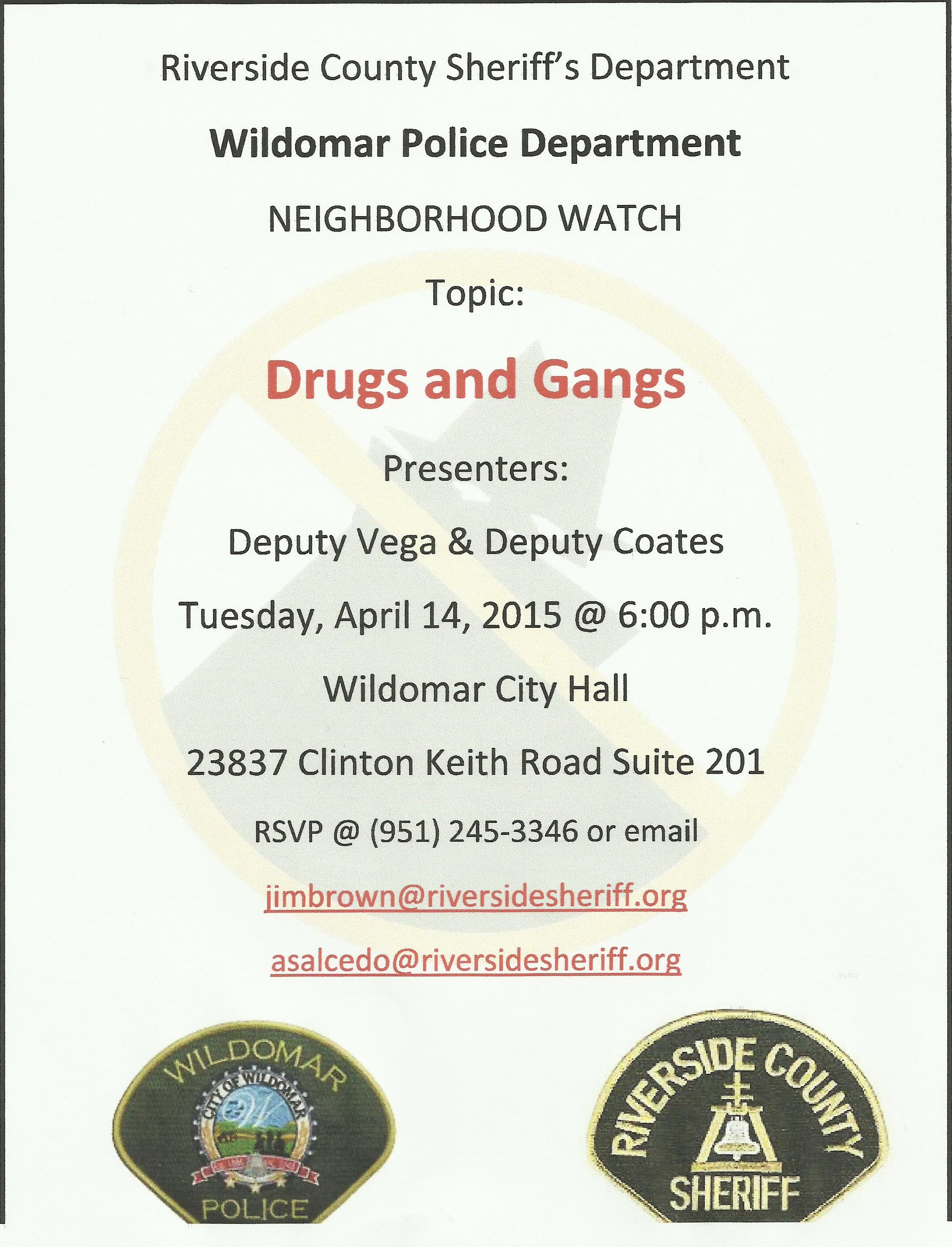 Neighborhood Watch 4-14-15