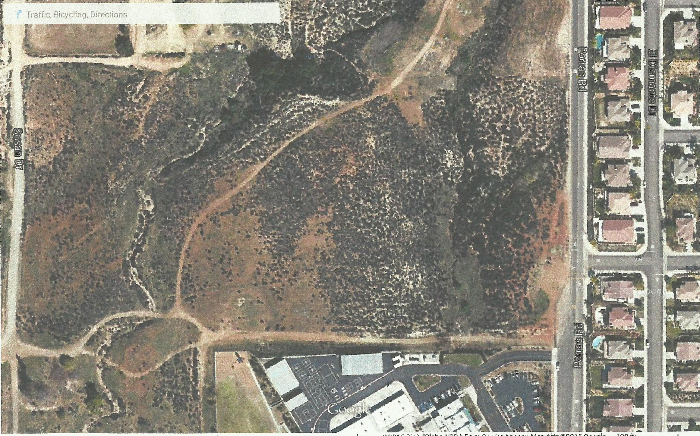 Park land on Porras Rd. (Wildomar Trail to some)