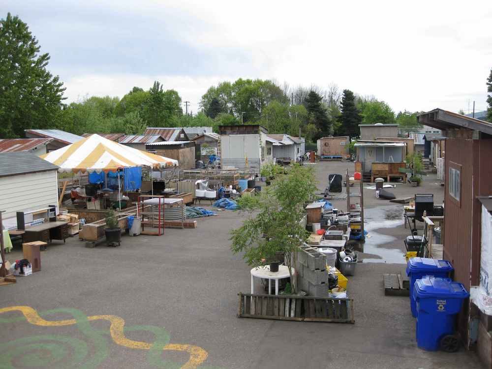 This is the mothership of Tiny Villages in Portland Oregon called Dignity Village